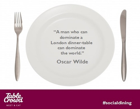 Dining With Oscar Wilde Table Crowd Blog
