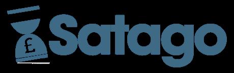 Satago Logo - blue horizontal