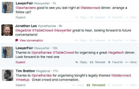 Legal innovation tweets